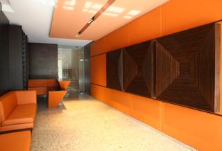 Residential building foyer